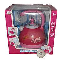 Игрушечный чайник для девочек, с подсветкой и звуком., фото 1