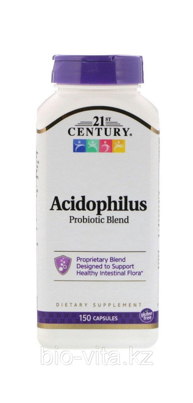 21st Century, Смесь пробиотиков Acidophilus, 150 капсул. Ацидофилус, Лактобактерин, Бифидумбактерин.