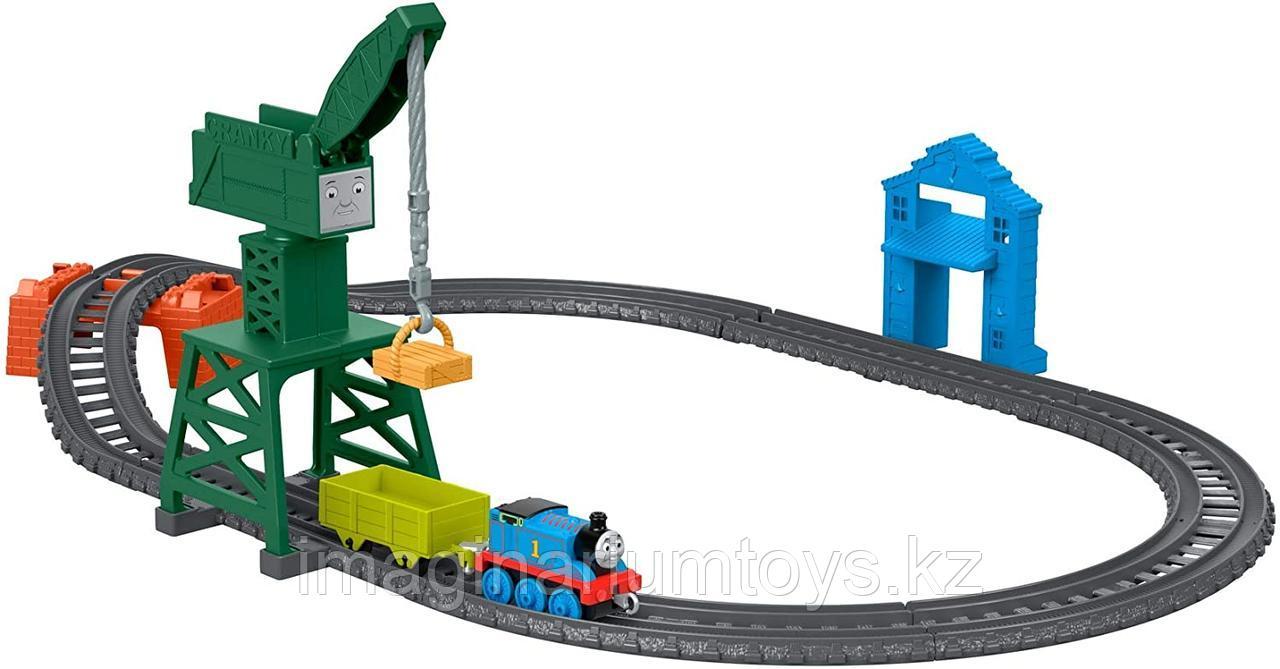 Томас паровозик на стройке. Железная дорога Track Master Fisher-Price