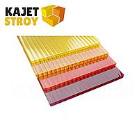 Сотовый поликарбонат цветной Berolux/Woggel 6 мм размеры 2,1*6,0 м.