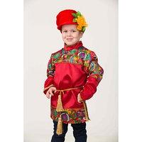 Карнавальный костюм 'Емеля', рубаха, пояс, картуз, р. 34, рост 134 см