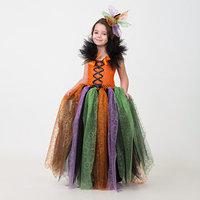 Карнавальный костюм 'Ведьмочка', сделай сам, корсет, ленты, брошки, аксессуары