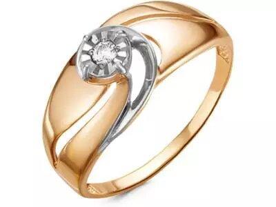 Золотое кольцо РусГолдАрт 1363703_1_5_1_17