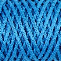 Шнур для вязания 'Классик' без сердечника 100 полиэфир ширина 4мм 100м (св.синий)