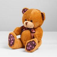Мягкая игрушка 'Мишка с бантом', на лапках и ушах сердечки, цвета МИКС
