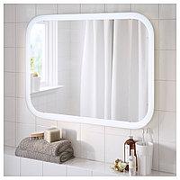 СТОРЙОРМ Зеркало с подсветкой, белый, 80x60 см