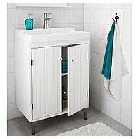 СИЛВЕРОН Шкаф под раковину с 2 дврц, белый, 60x38x68 см, фото 1