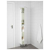 ЛИЛЛОНГЕН Высокий шкаф с зеркальной дверцей, белый, 30x21x179 см