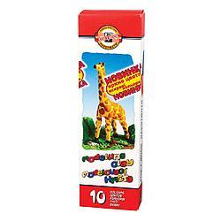 "Koh-I-Noor Классический Пластилин ""Жираф"", 10 цветов"