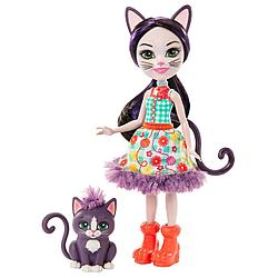 "Enchantimals Кукла ""Энчантималс"" с питомцем - Сиеста Кэт и Клаймбер, 15 см"