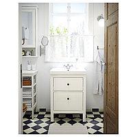 ХЕМНЭС / ОДЕНСВИК Шкаф для раковины с 2 ящ, белый, РУНШЕР смеситель, 63x49x89 см, фото 1