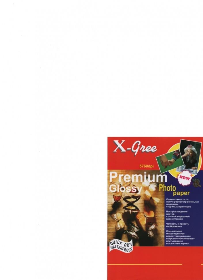 Фотобумага X-GREE 10*15/100/200г Глянцевая Премиум 53W200-10*15 (40)