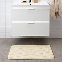 УППВАН Коврик для ванной, бежевый, 50x80 см