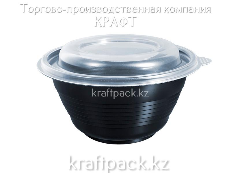 Контейнер с крышкой ПР-МС 500 мл чёрный (540) ПРОТЭК