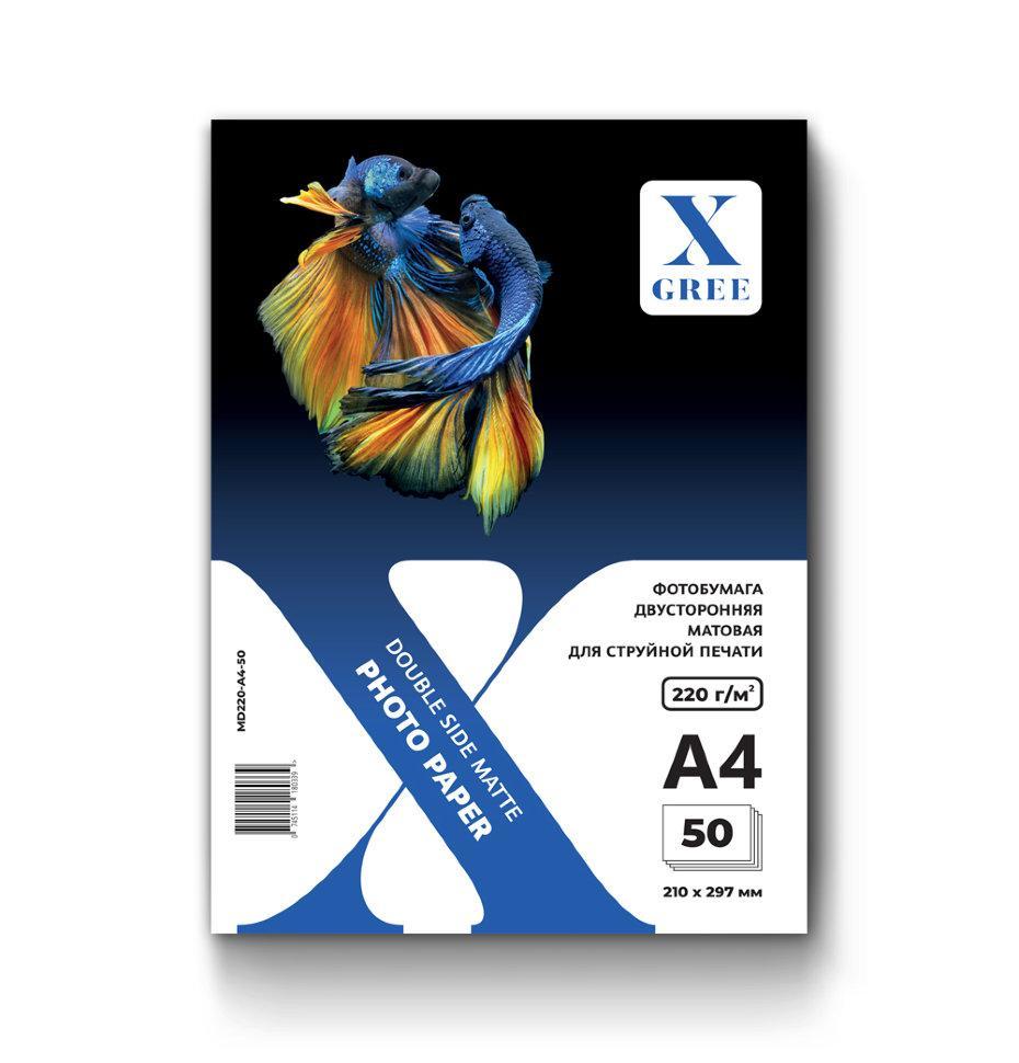 MD220-A4-50 Фотобумага для струйной печати X-GREE Матовая Двусторонняя A4*210x297мм/50л/220г NEW (20)