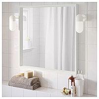 НИССЕДАЛЬ Зеркало, белый, 65x65 см, фото 1