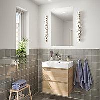 ГОДМОРГОН / БРОВИКЕН Комплект мебели для ванной,4 предм., под беленый дуб, БРОГРУНД смеситель, 61 см, фото 1
