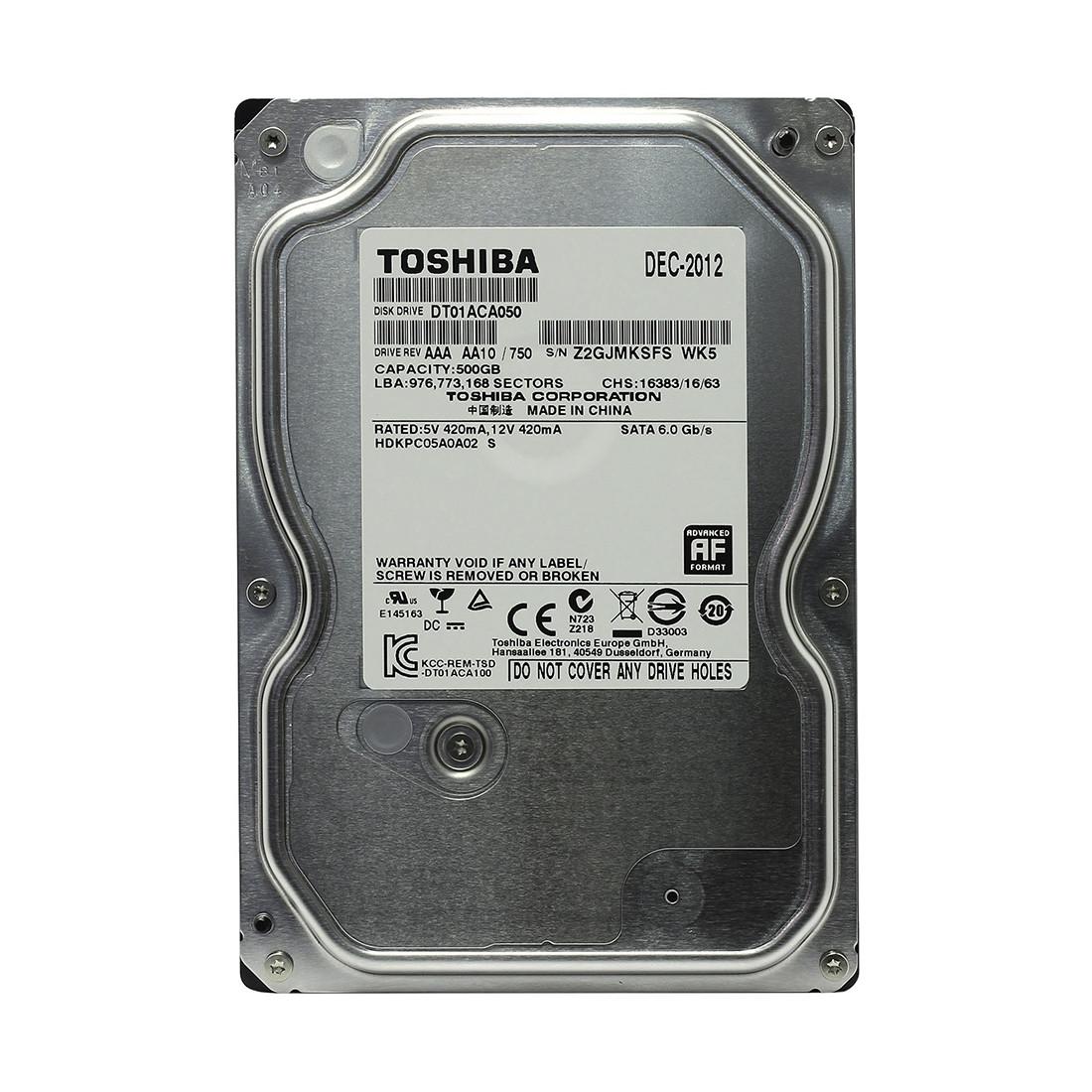 """HDD 500Gb Toshiba SATA6Gb/s 7200rpm 64Mb 3,5"""" DT01ACA050"""