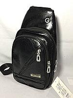 Мужская нагрудная сумка через плечо.Высота 32 см, ширина 17 см, глубина 6 см., фото 1