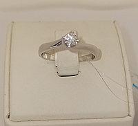 Золотое кольцо с бриллиантом / 18,5 размер