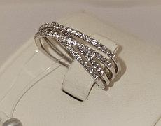 Кольцо с бриллиантами / 17размер