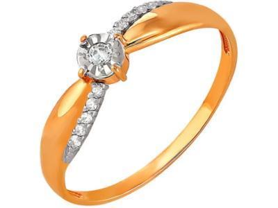 Золотое кольцо РусГолдАрт 1283303_1_5_1_17