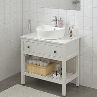 ХЕМНЭС / ТОРНВИКЕН Открытый шкаф для раковины 45, белый, ВОКСНАН смеситель, 82x48x90 см, фото 1