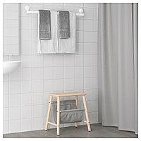 ТИСКЕН Вешалка д/полотенец на присоске, белый, фото 1