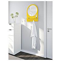 САЛТРЁД Зеркало с полкой и крючками, желтый, 50x68 см, фото 1