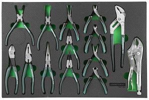 Набор шарнирно-губцевого инструмента в ложементе EVA 560х400 мм, 14 предметов P82714SV