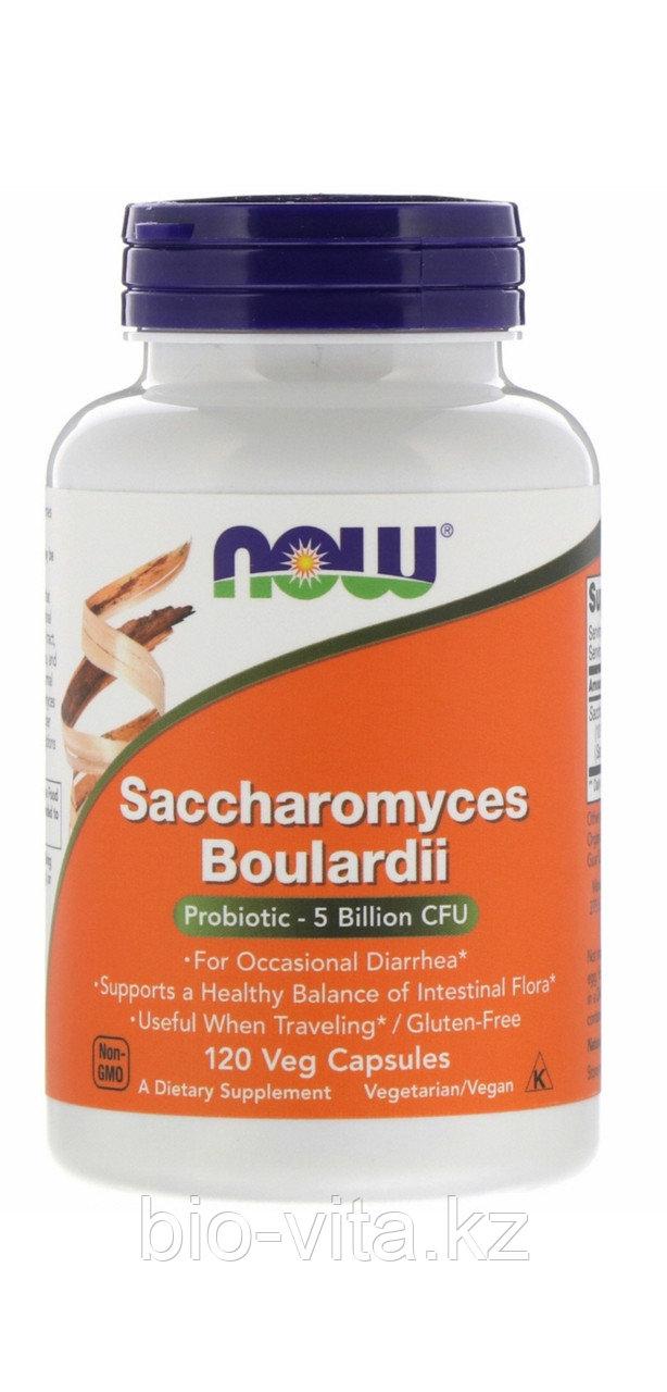 Now Foods, Сахаромицеты Буларди, пробиотик при Кандидозе 120 капсул.