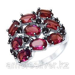 Кольцо из серебра с сиреневыми кристаллами Swarovski и фианитами    SOKOLOV 94012683 размеры - 17