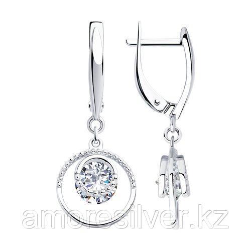 Серьги из серебра с фианитами    SOKOLOV 94023433