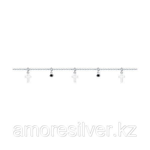 Браслет из серебра с фианитами  SOKOLOV 94050660