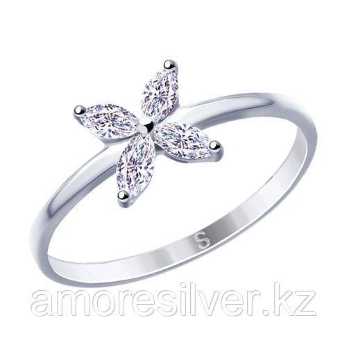 Кольцо из серебра с фианитами    SOKOLOV 94012778 размеры - 17 17,5 18 18,5 19