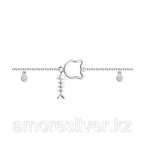 Браслет из серебра с фианитами  SOKOLOV 94050674
