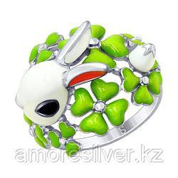 Кольцо из серебра с эмалью SOKOLOV 94012642 размеры - 16,5 19 20