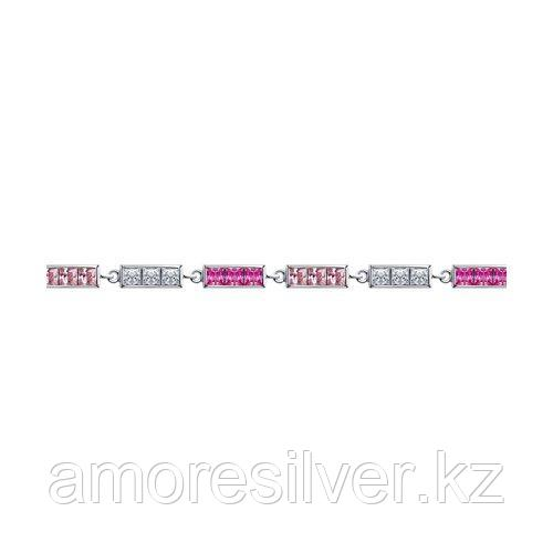 Браслет из серебра с корундами и фианитами    SOKOLOV 94050613
