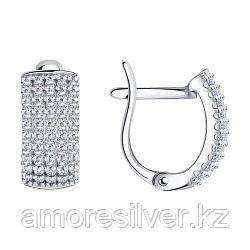 Серьги из серебра с фианитами    SOKOLOV 94021766