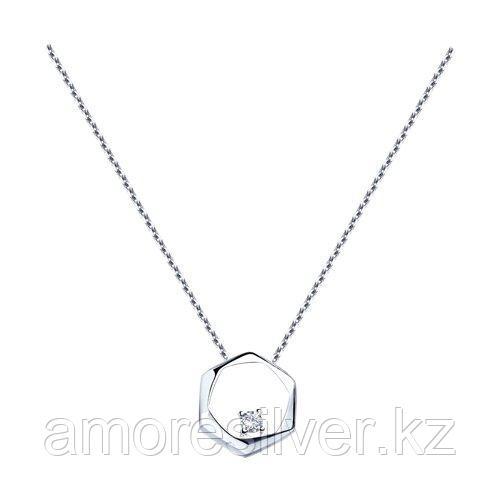 Колье из серебра с фианитом  SOKOLOV 94070232