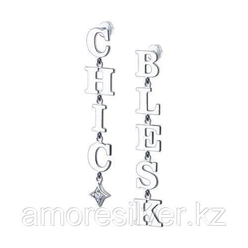 Серьги из серебра с фианитом  SOKOLOV 94024055