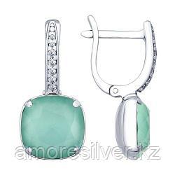 Серьги из серебра с кристаллами Swarovski и фианитами   SOKOLOV 94022663