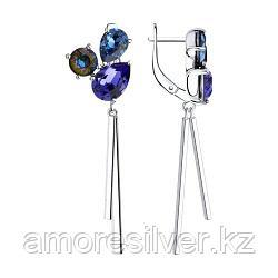 Серьги из серебра с голубыми кристаллами Swarovski  SOKOLOV 94023708