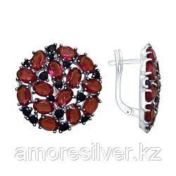 Серьги из серебра с сиреневыми кристаллами Swarovski и фианитами   SOKOLOV 94023044