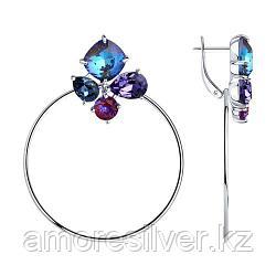 Серьги из серебра с голубыми кристаллами Swarovski   SOKOLOV 94023888