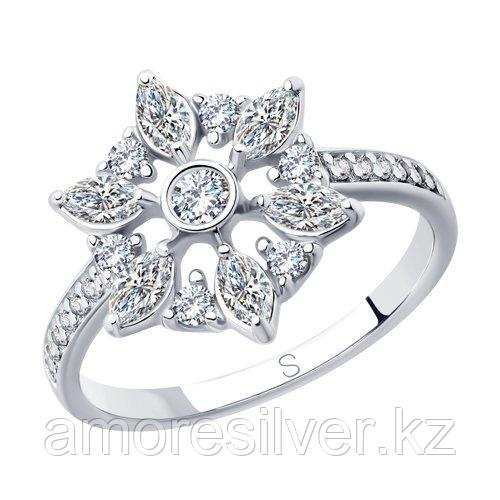 Кольцо из серебра с фианитами   SOKOLOV 94012852