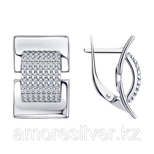 Серьги из серебра с фианитами    SOKOLOV 94024118