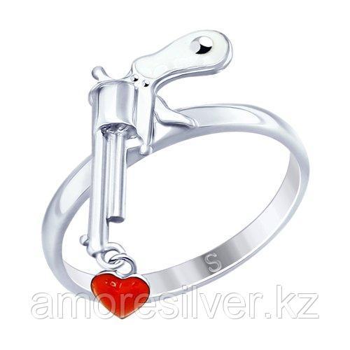 Кольцо из серебра с эмалью   SOKOLOV 94012621