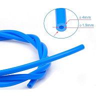 Тефлоновая трубка PTFE калиброванная цвет синий (1 м)