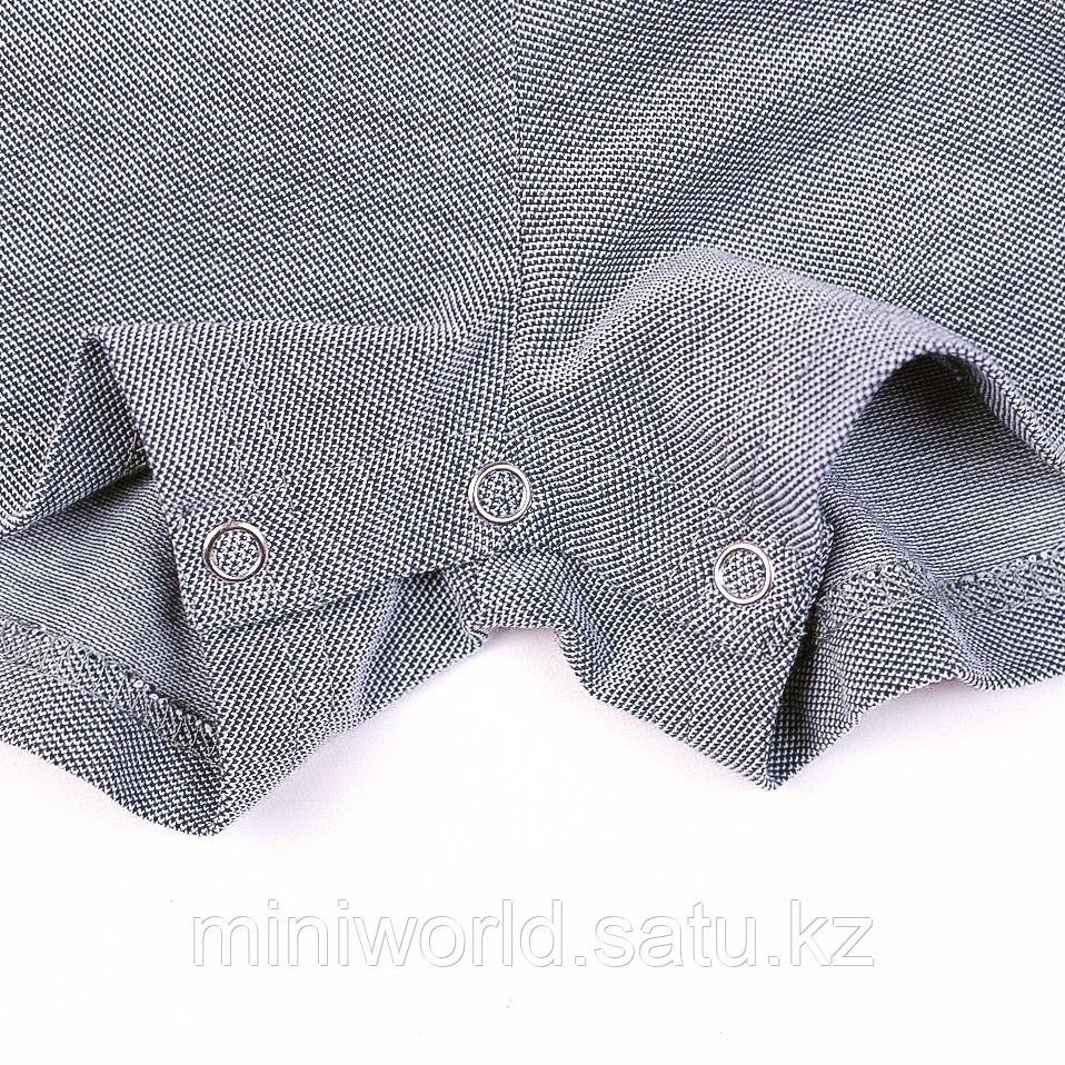 Летний поло-комбинезон серый - фото 4